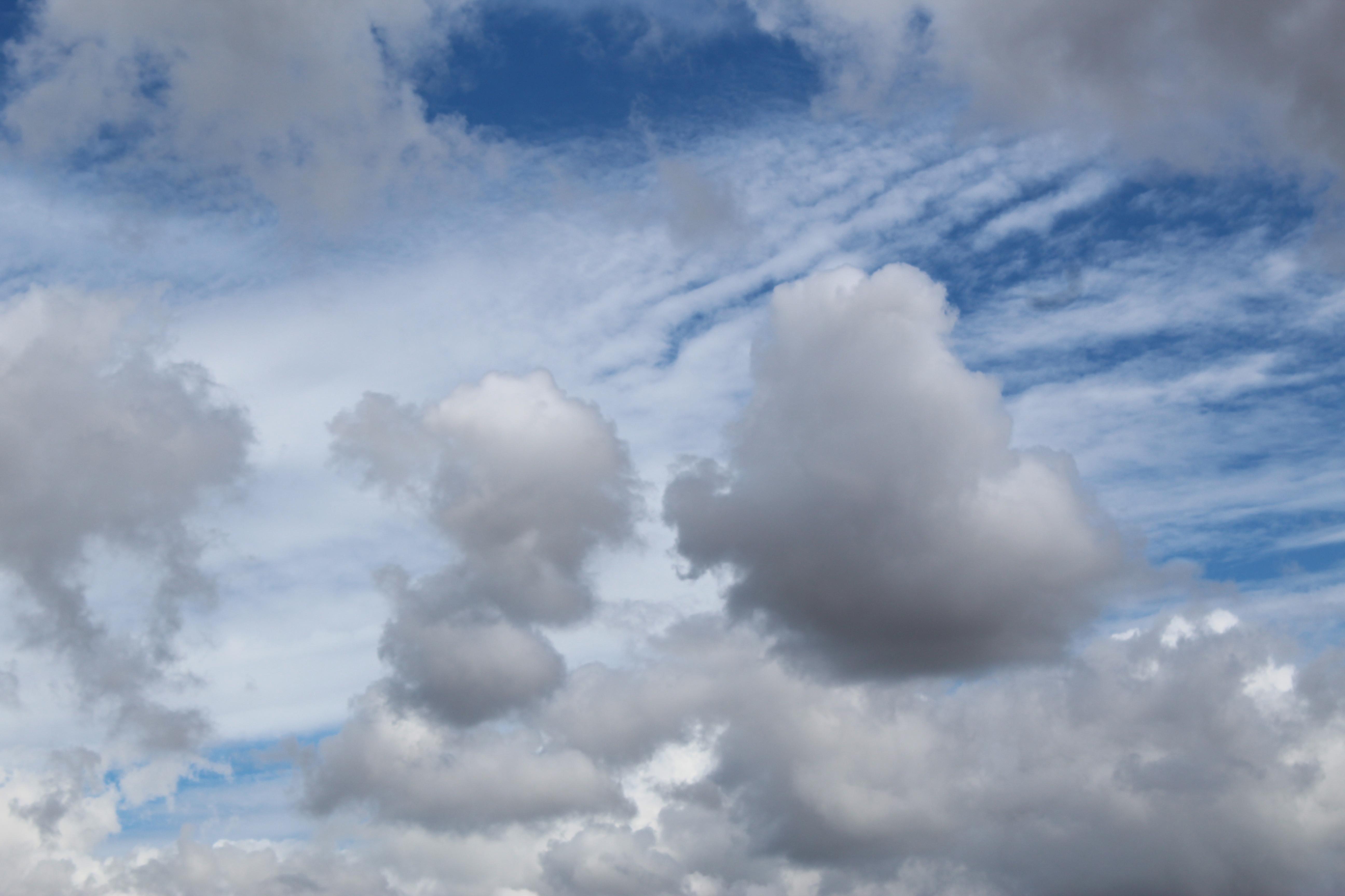 clouds above field